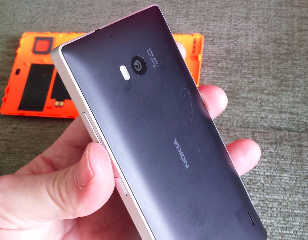 Black cover for Lumia 930 installation