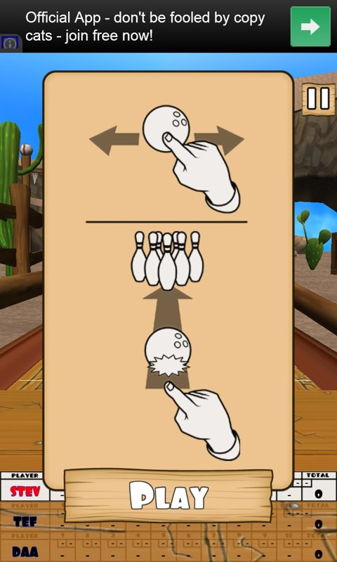 Screenshot, Bowling Western