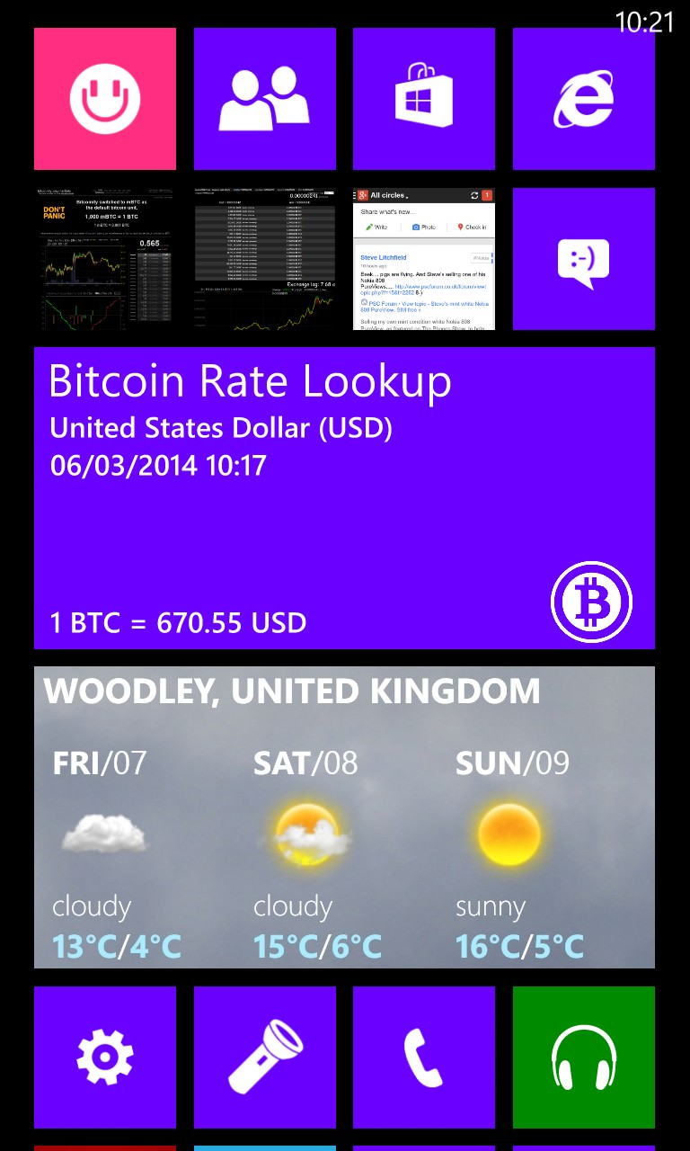 Bitcoin Rate Lookup screenshot