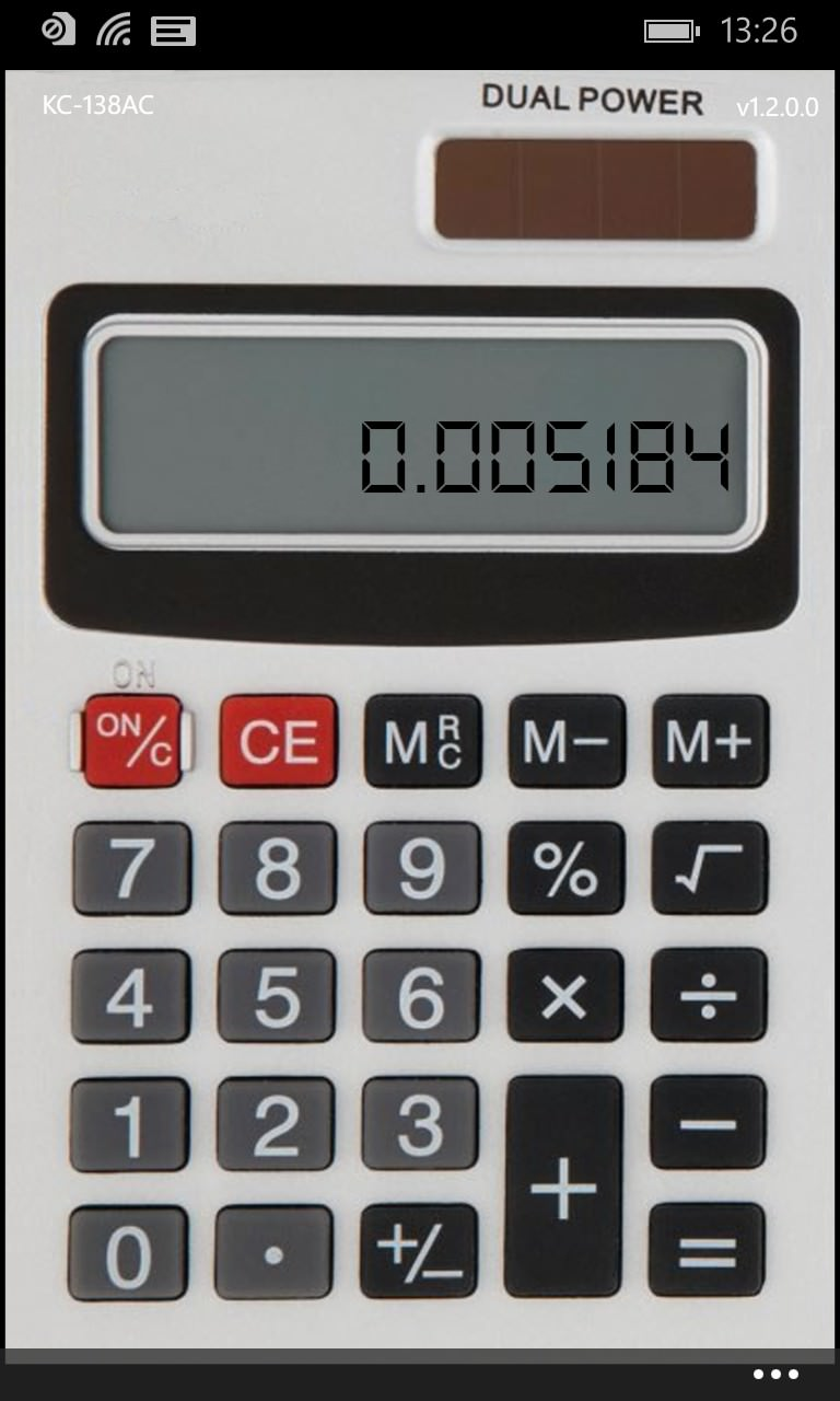 Screenshot, Classic Calculator