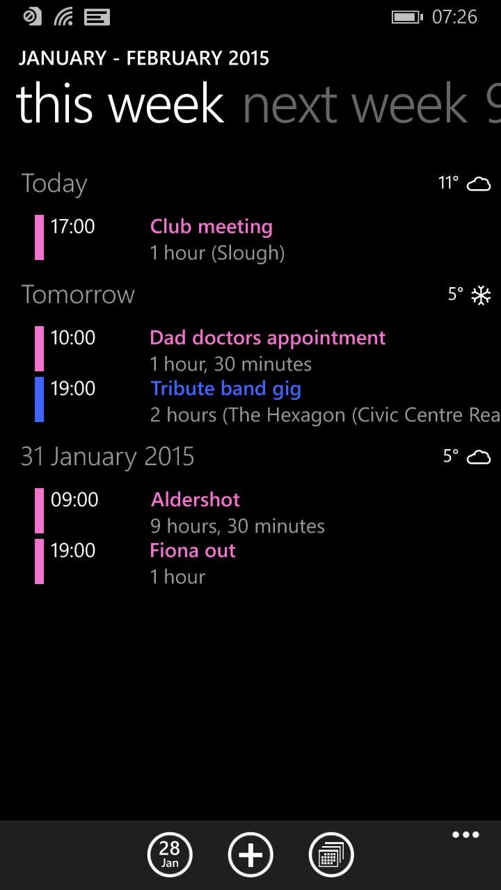 Screenshot, Calendar