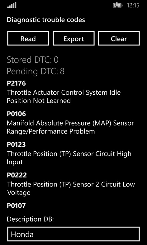 Screenshot, Car Scanner Pro
