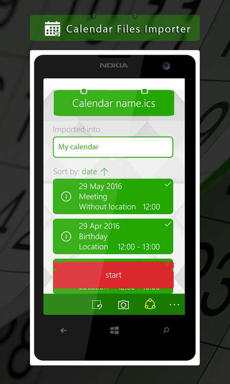 Calendar Files Importer screenshot