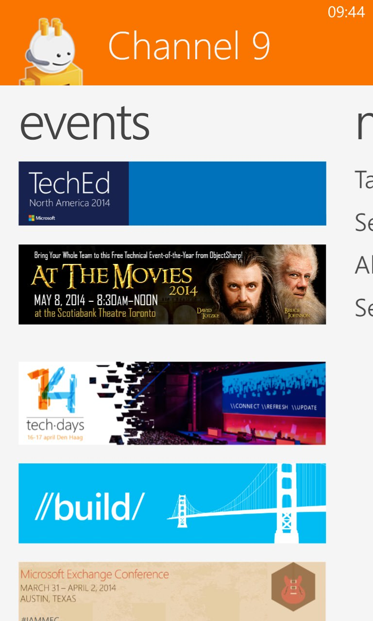 Screenshot, Channel 9