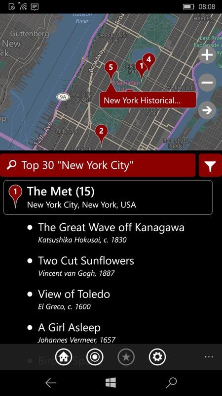 Screenshot, City Art Search