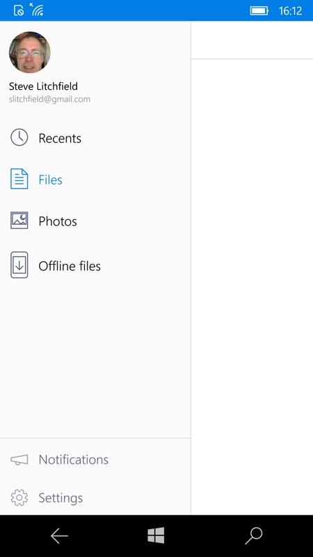 Screenshot, Dropbox UWP