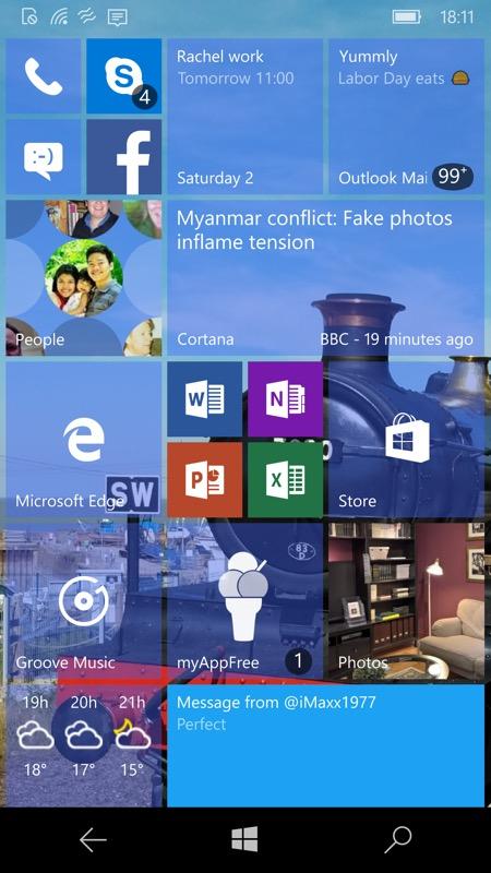 Screenshot, Dynamic Theme