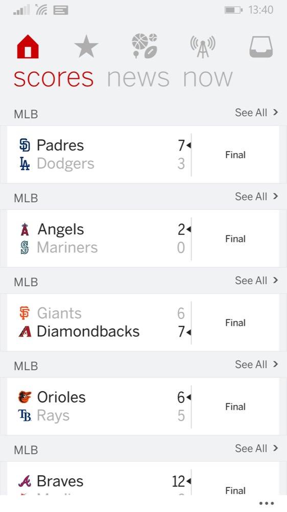 Screenshot, ESPN