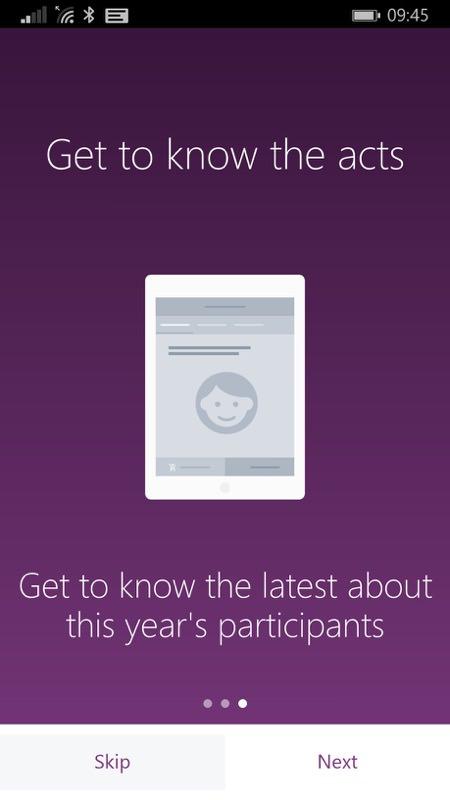 Screenshot, Eurovision for Windows Phone