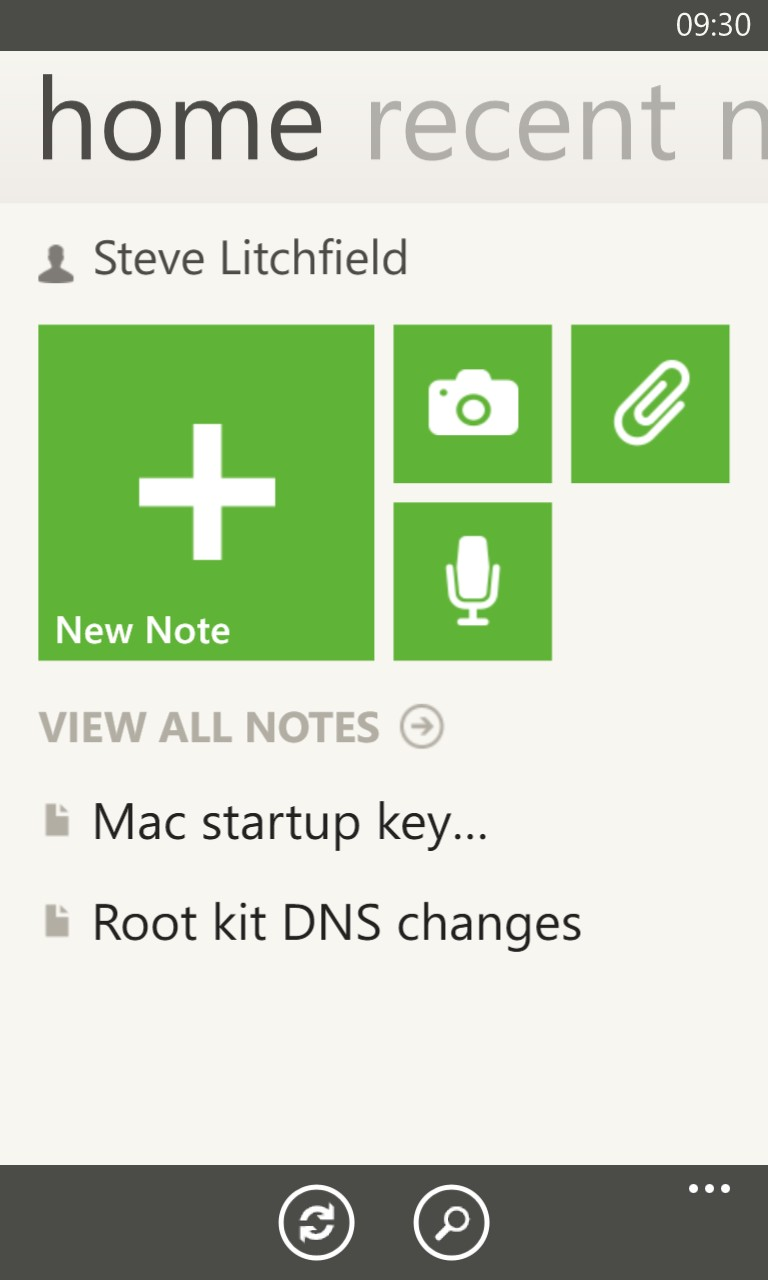 Screenshot, Evernote