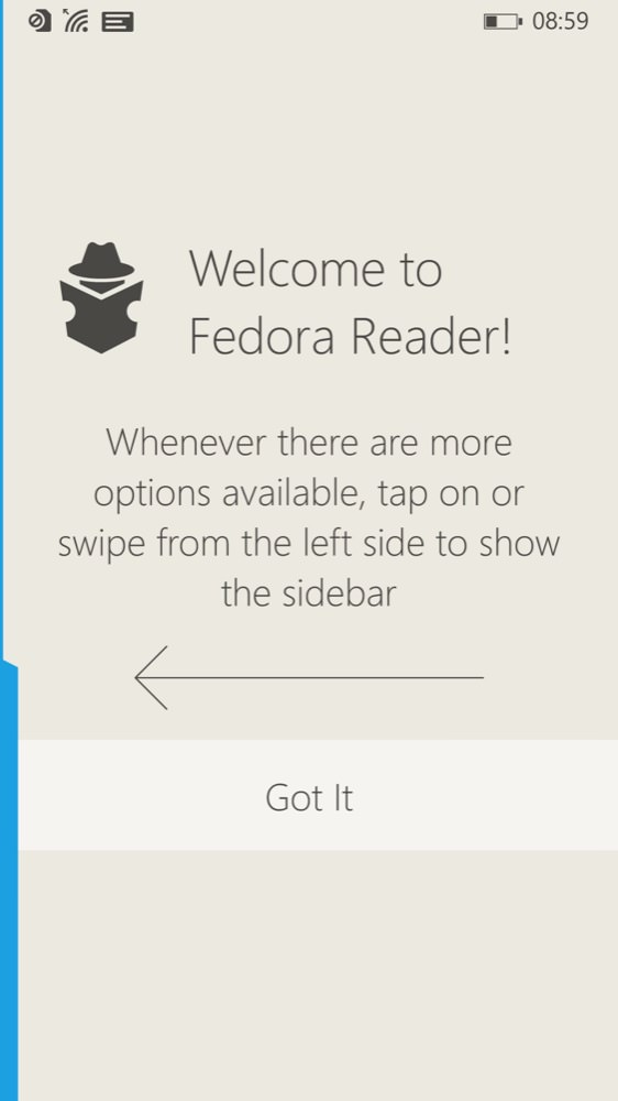Fedora Reader screenshot