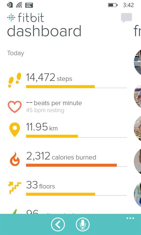Screenshot, Fitbit for Windows 10