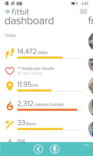 Screenshot, Fitbit