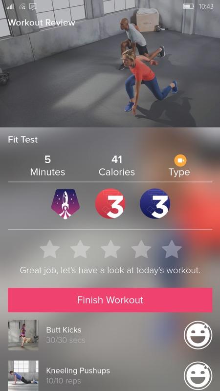 Screenshot, Fitbit Coach