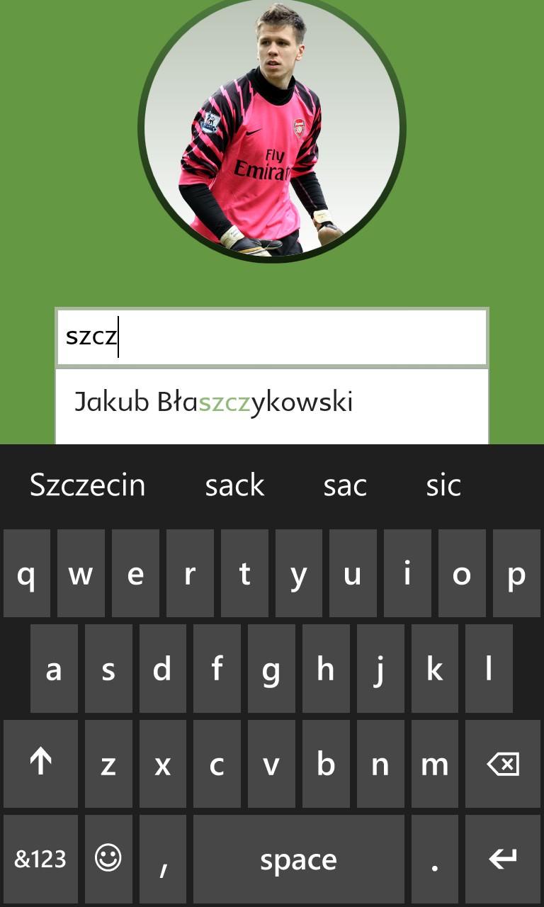 Screenshot, Football Players Quiz