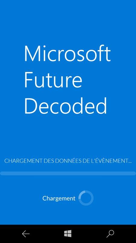 future decoded UWP screenshot