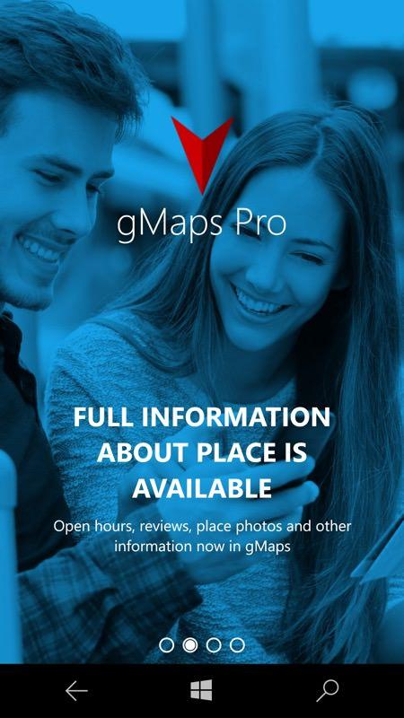 Screenshot, gMaps Pro