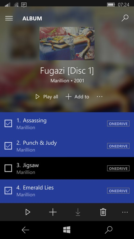 Groove Music for Windows 10 Mobile gets massive update