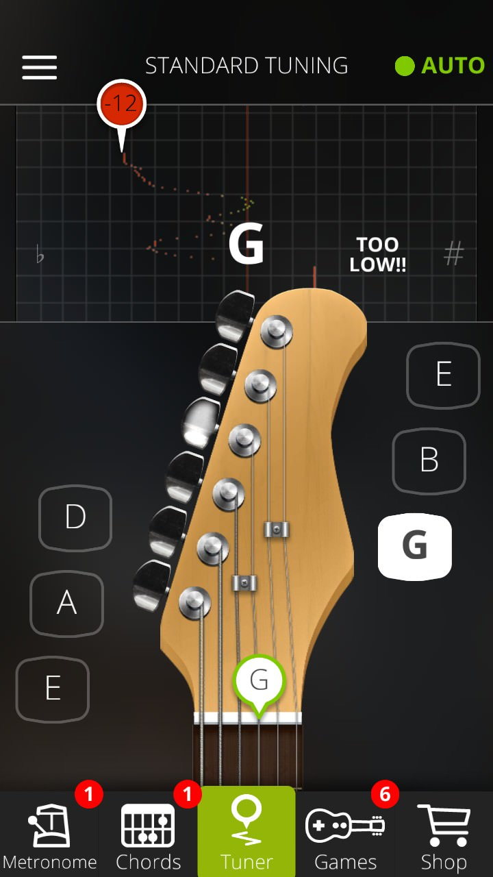 Screenshot, Guitar Tuna for Windows Phone