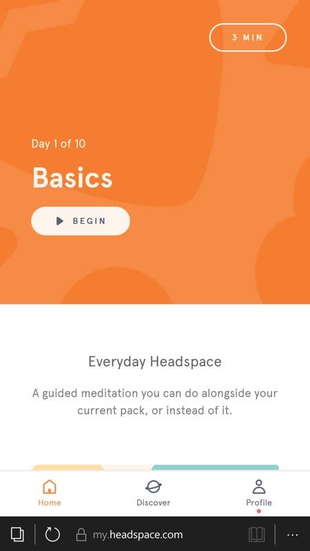 Screenshot, Headspace