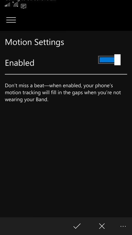 Screenshot, Microsoft Health