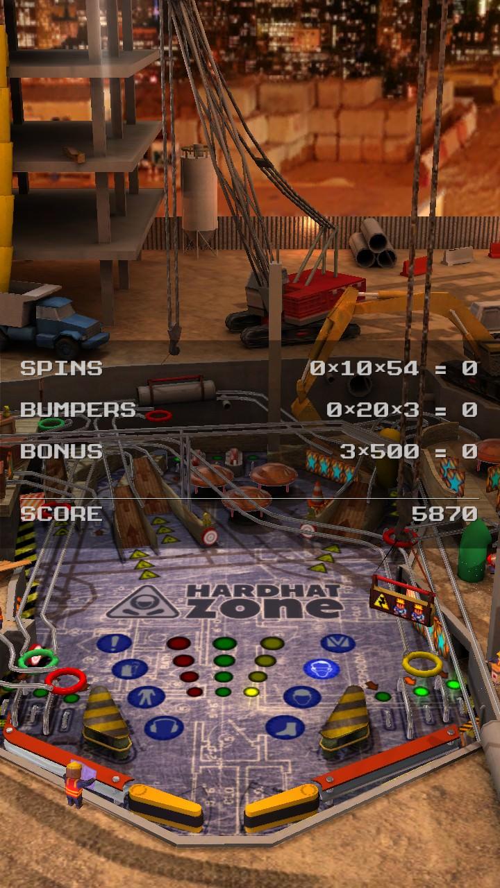 Screenshot, Pinball League: HardHat Zone