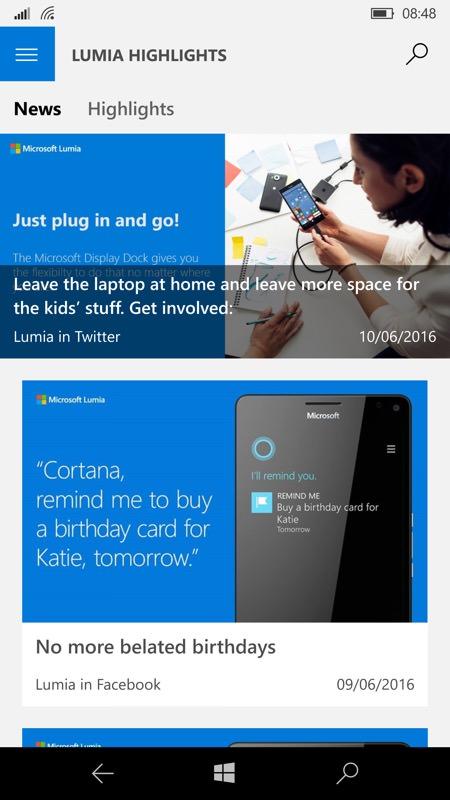 Lumia Highlights screenshot