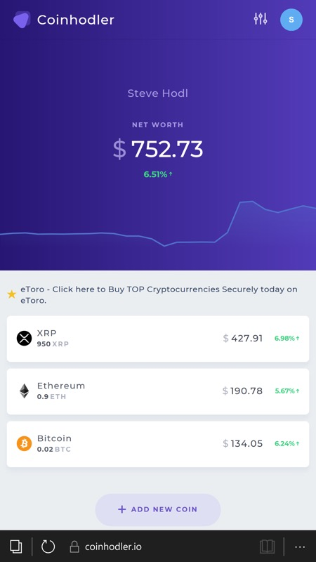 Screenshot, Coinhodler