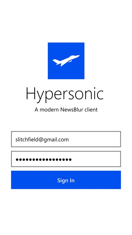 Hypersonic UWP screenshot