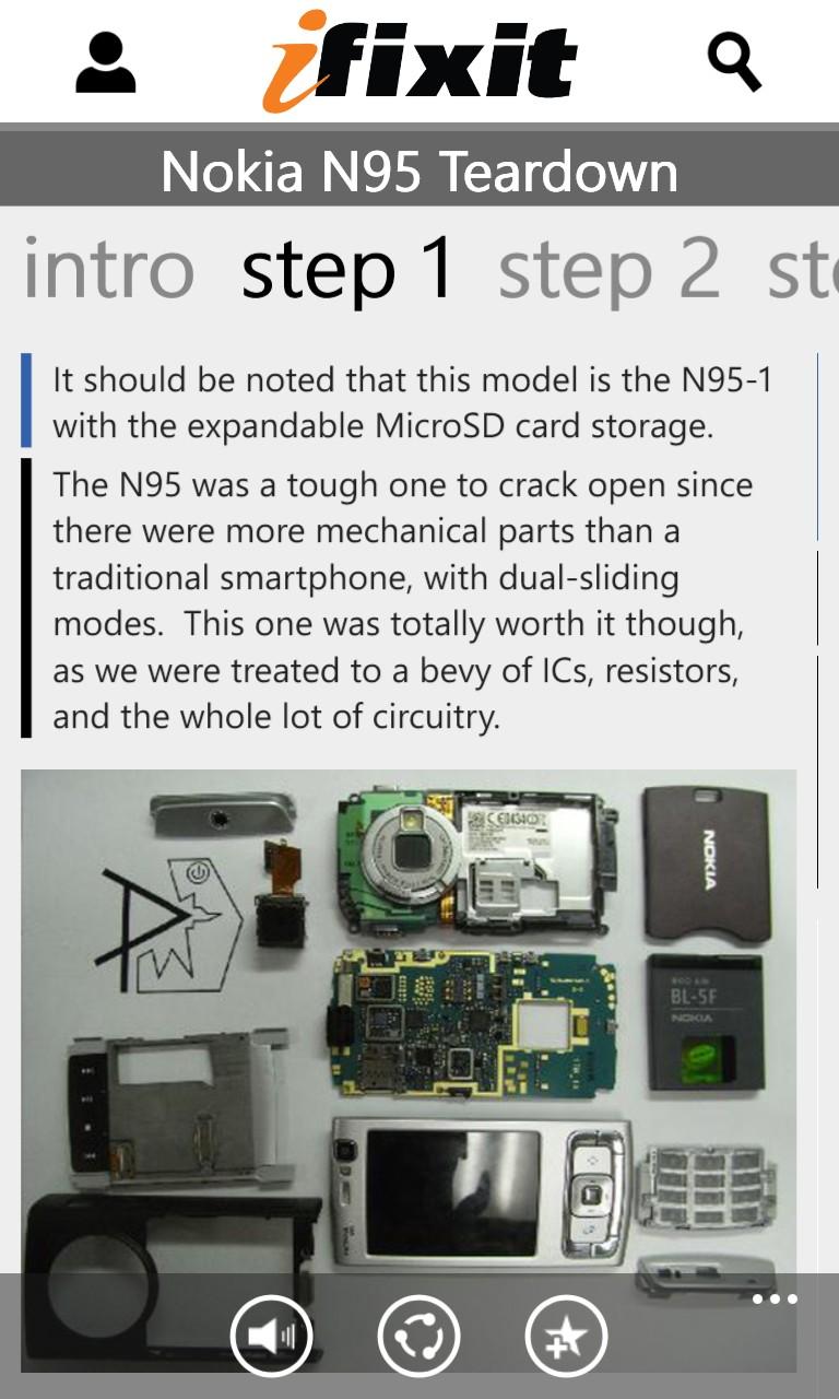 Screenshot, iFixit