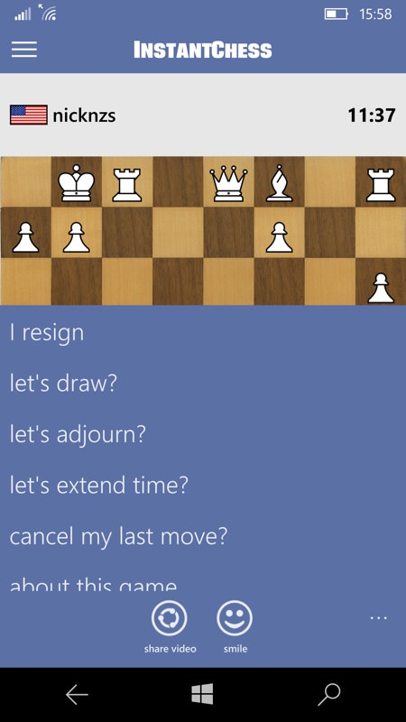 Screenshot, InstantChess