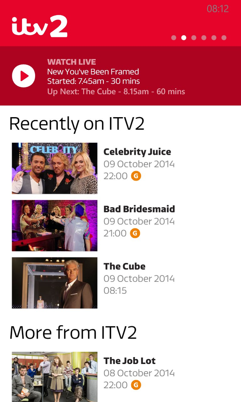 Screenshot, ITV Player