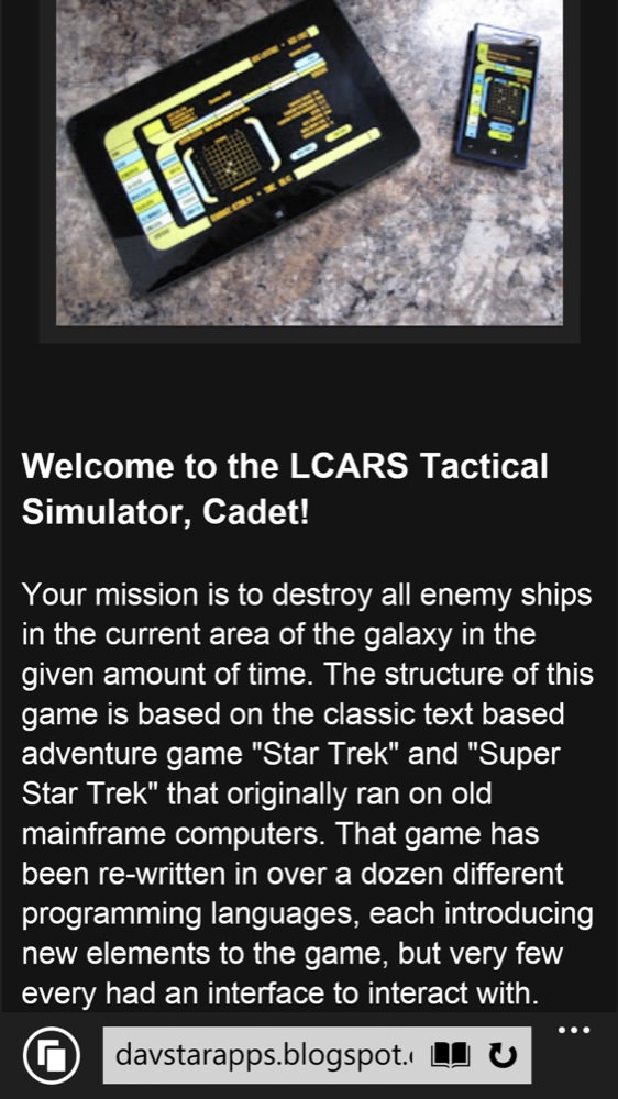 Screenshot, LCARS Trek