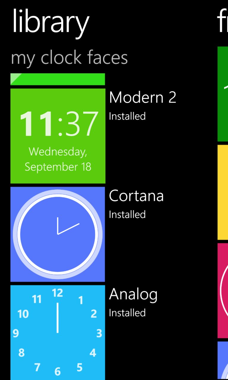 Screenshot, Live Tile Clock
