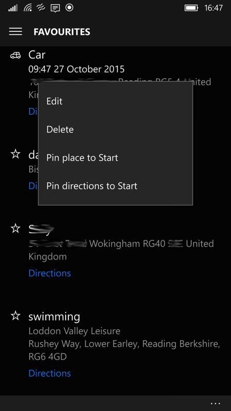 Screenshot, Windows 10 Maps