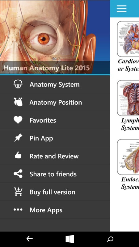 Screenshot, medical apps
