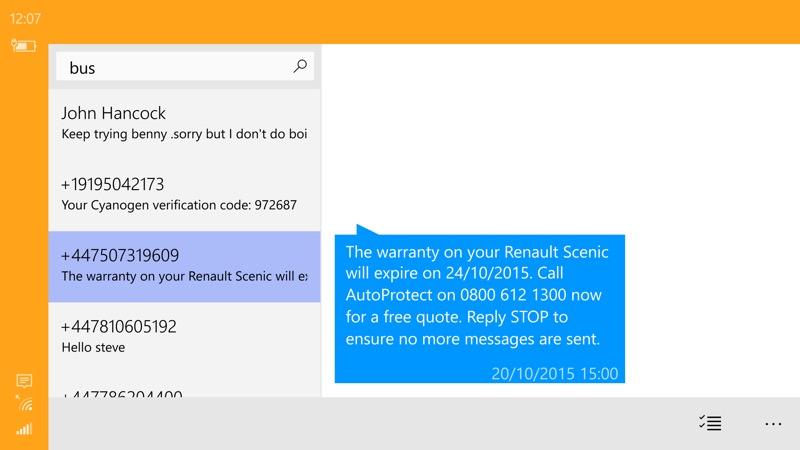 Screenshot, WP Message Backup