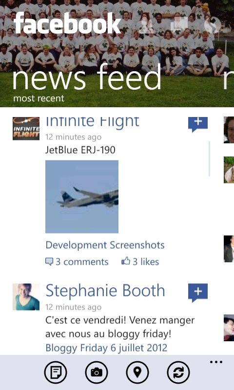 Facebook 2.7 on Windows Phones