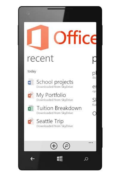 Office on Windows Phone 8