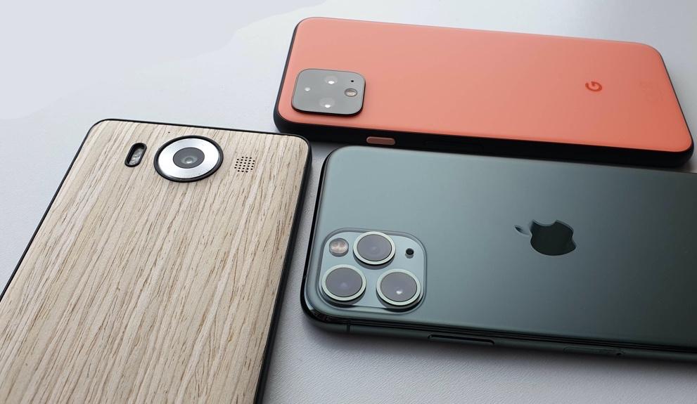 Lumia 950, Pixel 4, iPhone 11 Pro