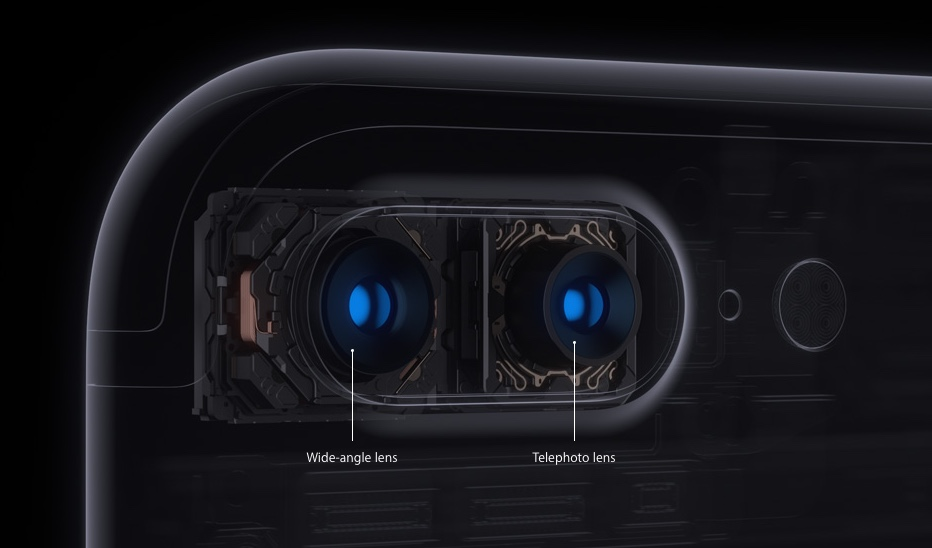 iPhone 7 Plus twin camera lenses