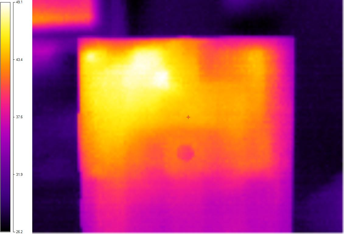 Thermal image of hot Lumia 920