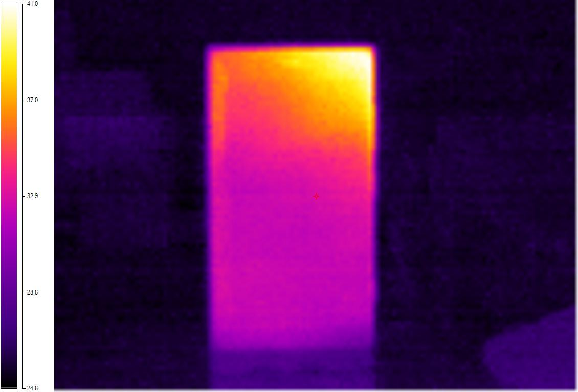 Thermal image of 920 from the front