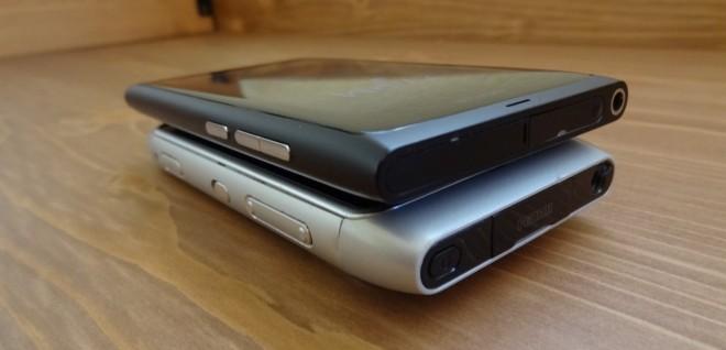 Nokia N9 vs the Nokia N8