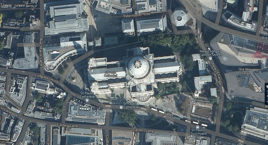 Aerial St Paul's
