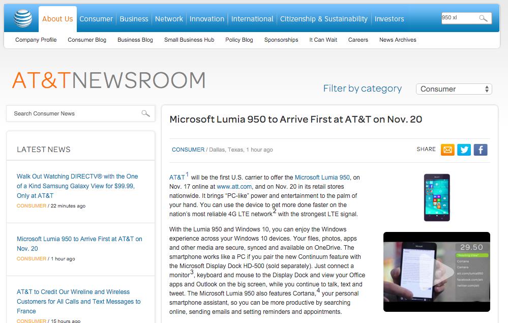 AT&T screenshot