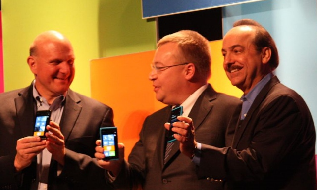 [Image, Microsoft, Nokia, and AT&T, at CES 2012]