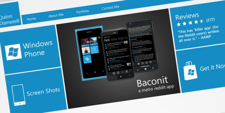 Baconit Website view