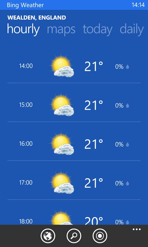 Bing Weather app