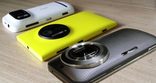 Nokia 808 PureView, Nokia Lumia 1020 and Samsung Galaxy K Zoom